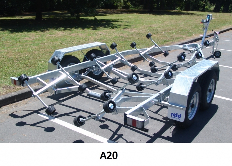 A17, 18, 20 tandem to fit boat from 5.5m/17' to 6.5m/21'6""